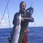 "4.02.15 First wahoo taken with my custom Ulusub ""Blue Steele"""