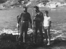 Bonoso Fernandez Baltanas, Francisco Garrido ambos fallecidos y Yo