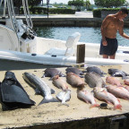 Pantoja and a day's haul spearfishing Haulover 2007